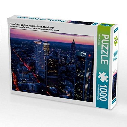 Frankfurter Skyline, Aussicht vom Maintower 1000 Teile Puzzle quer (CALVENDO Orte)