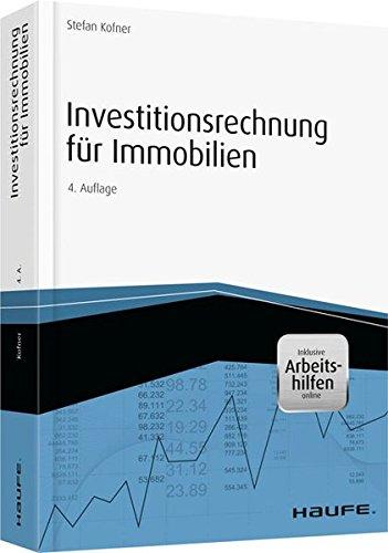 Investitionsrechnung für Immobilien - inkl. Arbeitshilfen online (Hammonia bei Haufe)