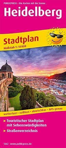 Heidelberg: Touristischer Stadtplan mit Sehenswürdigkeiten und Straßenverzeichnis. 1:14000 (Stadtplan / SP)