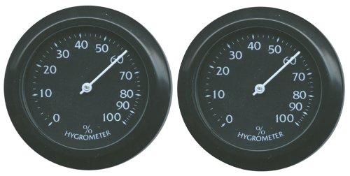 Namiba Terra 20711 Mini Hygrometer Analog rund Doppel-Pack, ø 38 mm, schwarz