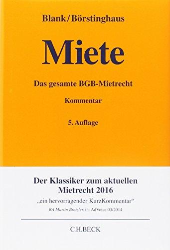 Miete (Gelbe Erläuterungsbücher)